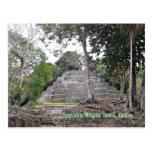 Postal maya de Belice de las ruinas de Lamanai