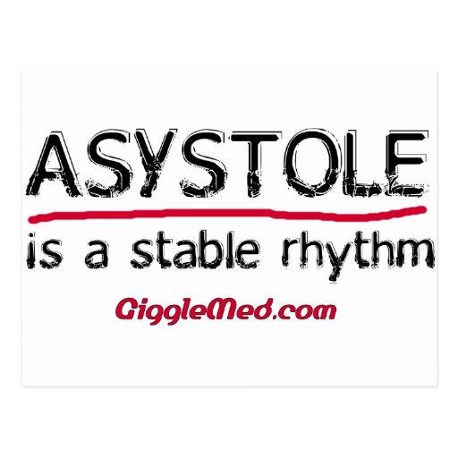 Postal médica del humor de la asistolia