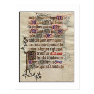 Postal medieval del pergamino