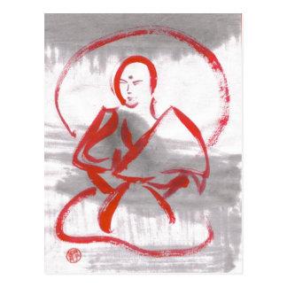 Postal Meditating del monje de Shaolin