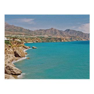 Postal mediterránea de la costa