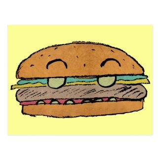 Postal menor de la hamburguesa