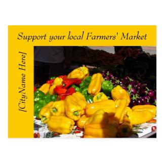 Postal - mercado de los granjeros de la ayuda - pi