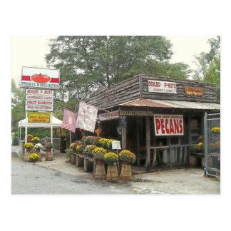 Postal meridional de la tienda rural del borde de