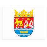 Postal meridional del escudo de armas de Finlandia