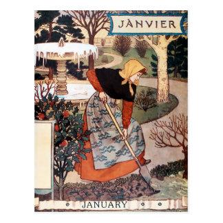 Postal: Mes de enero - Janvier Tarjeta Postal