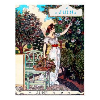 Postal: Mes de junio - Juin Tarjeta Postal