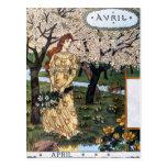 Postal: Mes del Aril - Avril