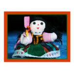 Postal mexicana de la muñeca del paño