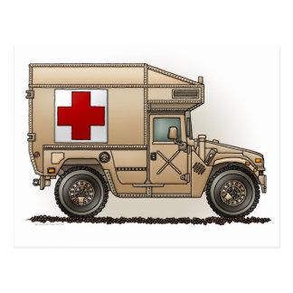 Postal militar de la ambulancia de Hummer