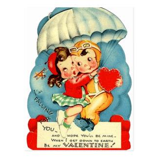 Postal militar del el día de San Valentín de la fu