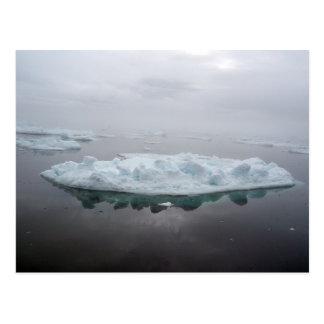 Postal mística de los icebergs