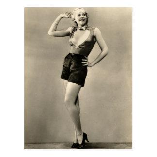 Postal modela del actor de cine de los años 30 del