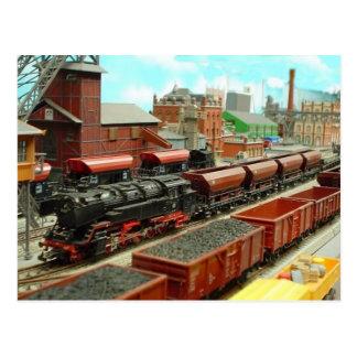 Postal modelo de la estación de tren