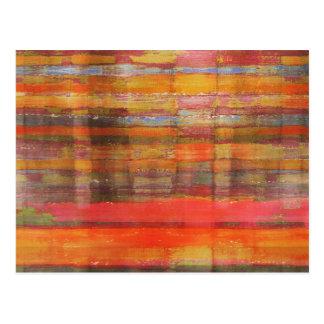Postal moderna anaranjada del arte abstracto