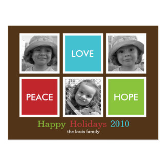 Postal moderna de /Holiday de la tarjeta de Navida