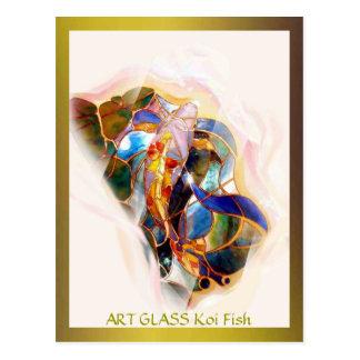 Postal moderna de la bella arte de los pescados de