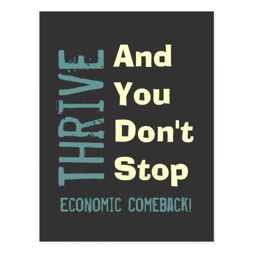 Postal moderna de la recuperación económica