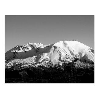 Postal monocromática del Monte Saint Helens en feb