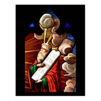 Postal Moses y los diez mandamientos