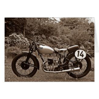 Postal motocicleta coche antiguo Puch S4 Tarjeta De Felicitación