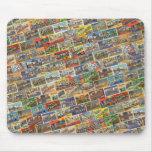 Postal Mousepad de Tejas del vintage Alfombrillas De Raton