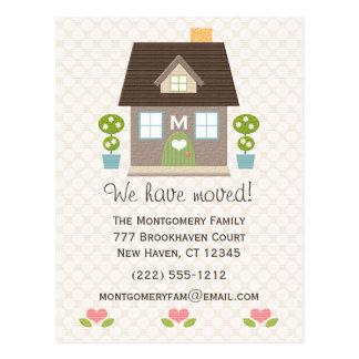 Postal móvil casera con monograma de la invitación