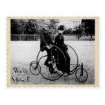 Postal móvil de la bicicleta en tándem del vintage