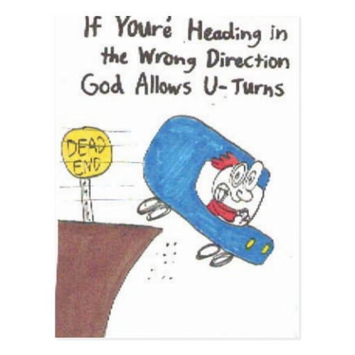 postal - muestras divertidas de la iglesia