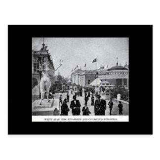 Postal-Mundos Justos-Starline y los edificios de l Tarjetas Postales