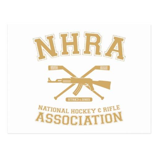 Postal nacional de la asociación del hockey y del