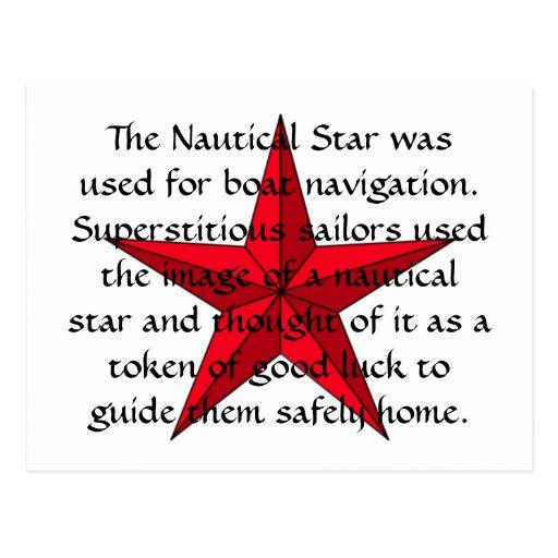 Postal náutica de la estrella