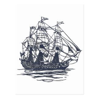 Postal náutica de la nave