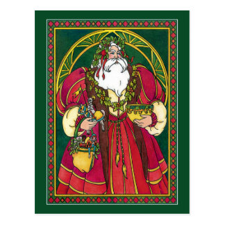 Postal:  Navidad del padre - Santa - solsticio Tarjetas Postales