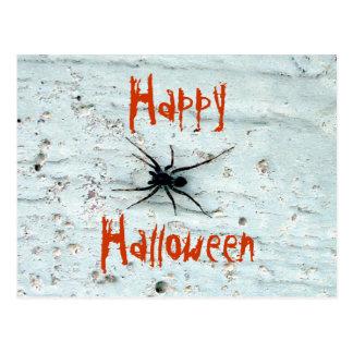Postal negra de la araña
