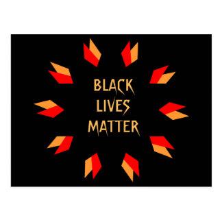 Postal negra de la materia de las vidas