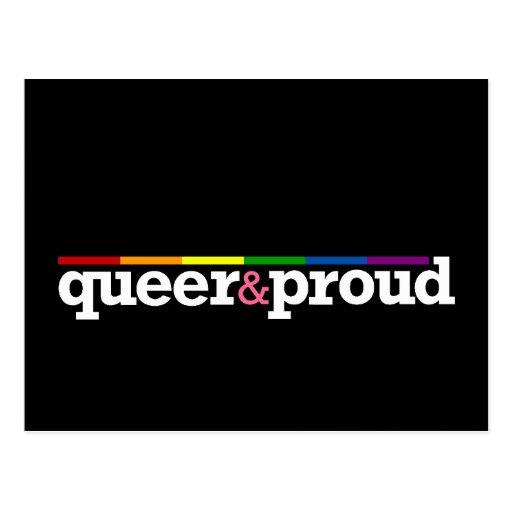 Postal negra de Queer&proud