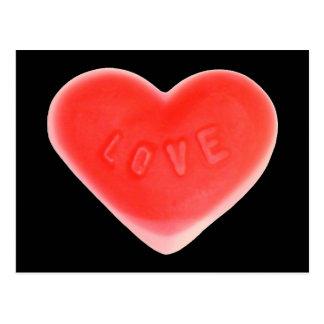 Postal negra del amor