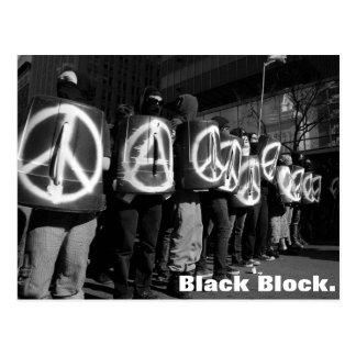 postal negra del bloque
