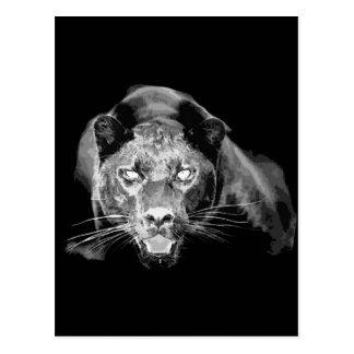 Postal negra salvaje de los ojos de gato de Jaguar