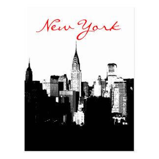 Postal negra y blanca del arte pop de New York