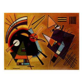 Postal negra y violeta de Kandinsky