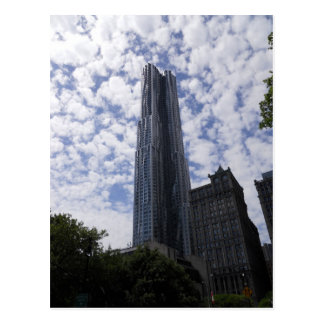 Postal New York City del rascacielos de la calle d