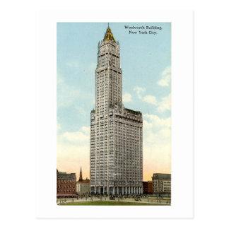 Postal New York City Woolworth que construye 191