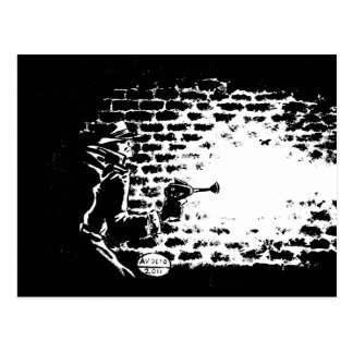 Postal Noir de Raygun, ilustraciones de Michael Av