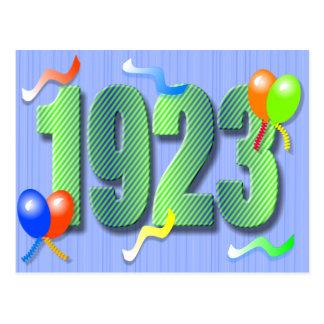 Postal nonagésima 1923 del cumpleaños