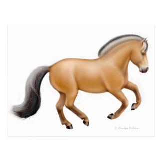 Postal noruega del caballo del fiordo
