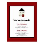 POSTAL: ¡Nos hemos movido! Casa clásica (roja)