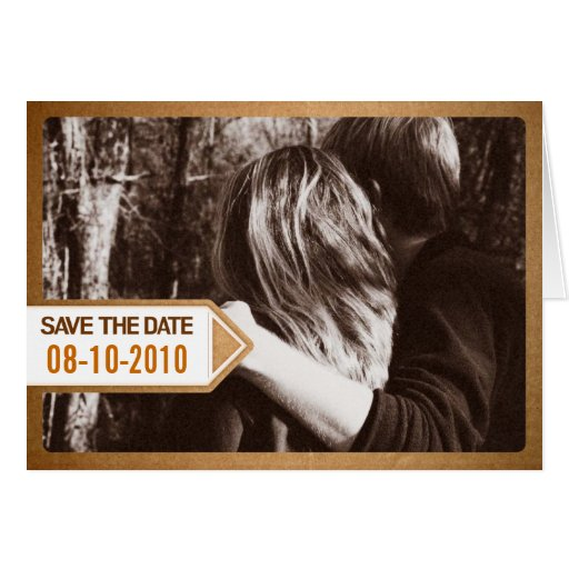 Postal Notice Save the Date Invitation Greeting Card