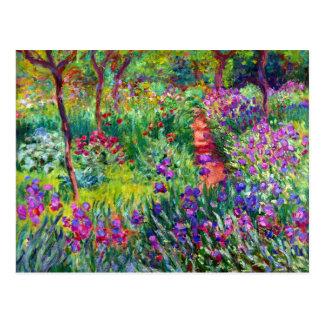 Postal nupcial del impresionismo del jardín del ir